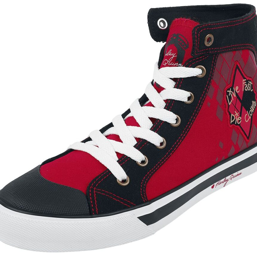 Suicide Squad 2 - Live Fast Die Clown Sneakers red black