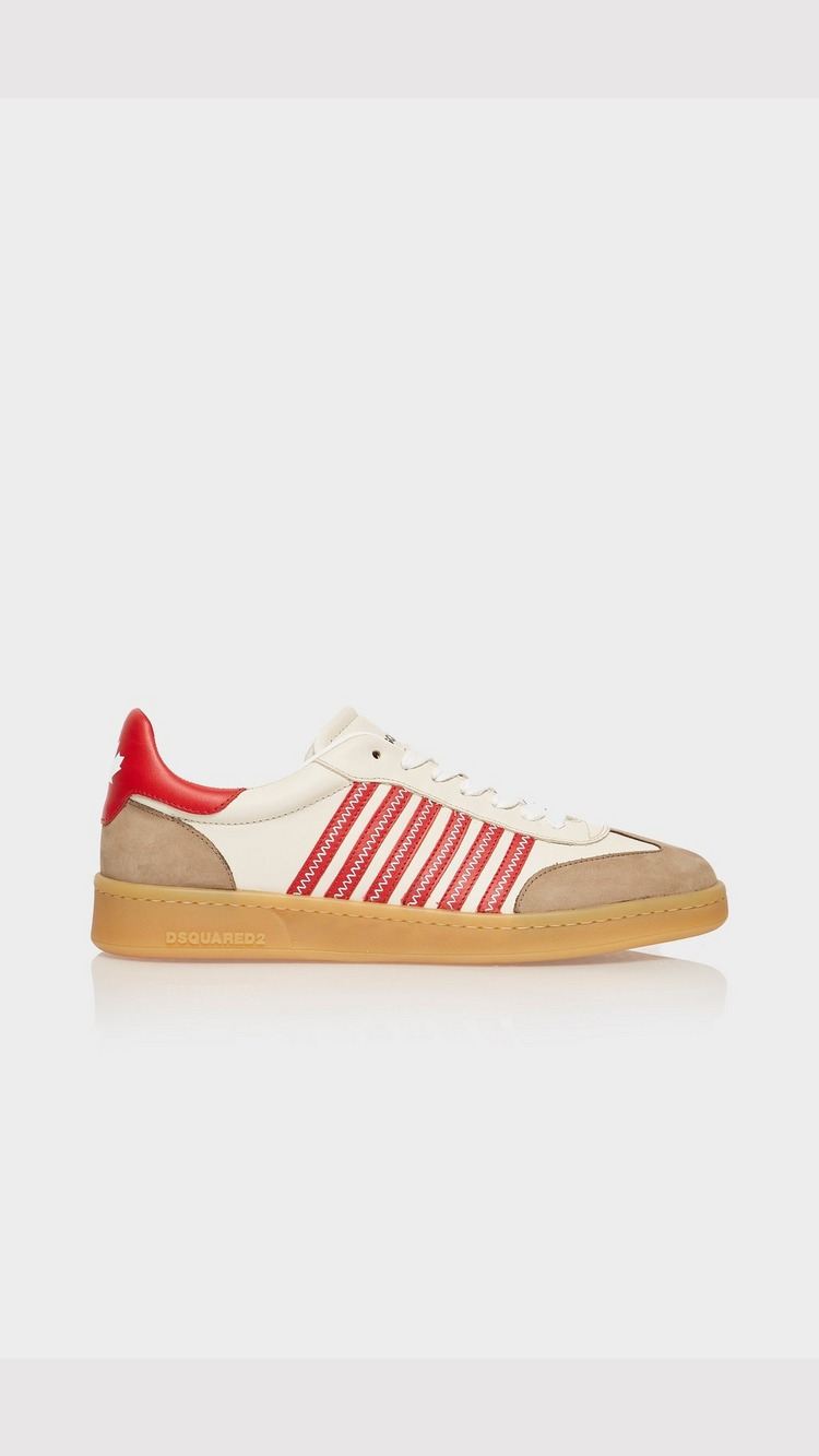 Dsquared2 Contrast Sole Boxer Trainer - Red - Mens, Red